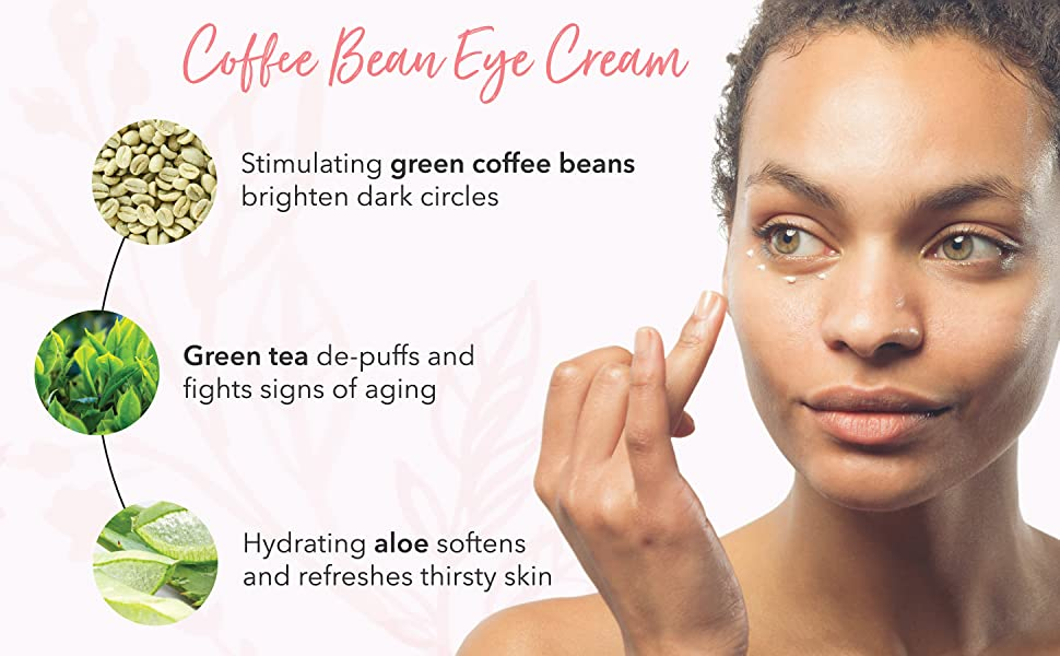 Amazon Com 100 Pure Coffee Bean Caffeine Eye Cream For Wrinkles