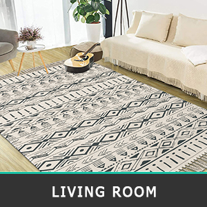 cotton area rug runner for hallway entryway living room