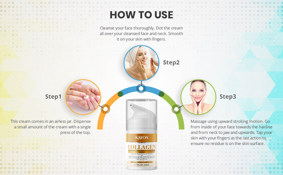 How to Use Kayos Collagen Cream