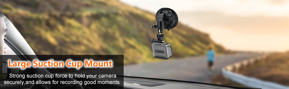 Car Windshield Suction Cup Camera Mount