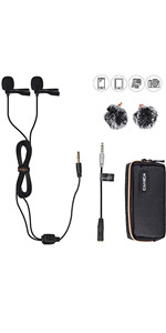 comica d02B 2.5 lavalier microphone for smartphone, camera and etc