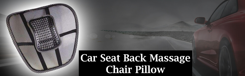 Universal Car Seat Back Massage Chair Pillow Waist Support Lumbar Fan Pad Car Seat Cushion SPN-REE