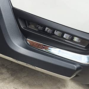 LED Fog Driving Light Kit 2017-up Honda CR-V White LED Fog Lamps Chrome Bezel Covers amp; Wiring Switch