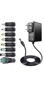 24V 1A ACアダプター 充電器 Hue ライトリボンプラス ソウイサーキュレータ Xbox 360 ワイヤレス レーシング ホイール 電源 LEDデスクライトプログレスウォーター