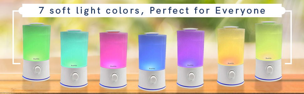 Comes with 7 different LED mood lights to give you that relaxing ambiance anytime.