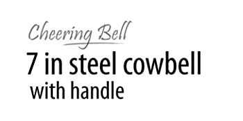 10 in steel cowbell Noise makers handle Cheering Bell sporting football game event solid hand bells