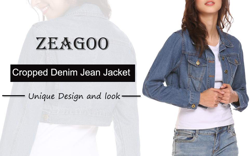 Cropped Denim Jean Jacket