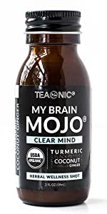 teaonic herbal tea tonic shot my brain mojo clear mind turmeric lemon ginger