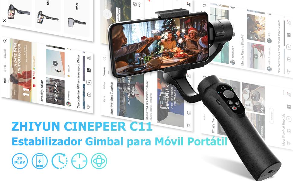 Instruccin Manual en Espaol Cinepeer C11 Gimbal-Mvil ...