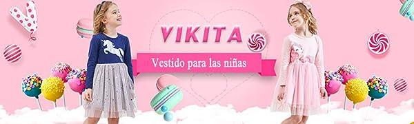 VIKITA Vestido Niñas
