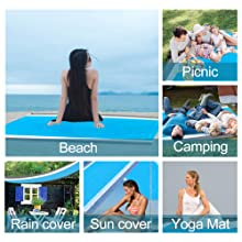 Outdoor activities,Sports: Yoga, gymnastics, volleyball, sports events and so on.
