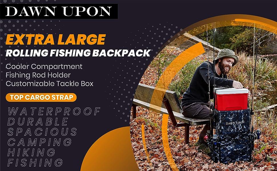 waterproof backpack fishing rod holder fishing tackle box waterproof bag sling backpack