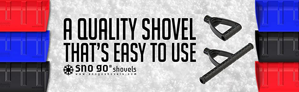 """Sno go Shovels, SNO go Snow Shovel with 32"""" Wide Plow Scoop For Driveway and Side Walks"""