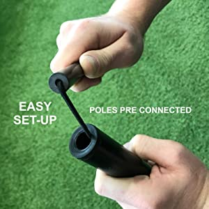 poles pre-connected