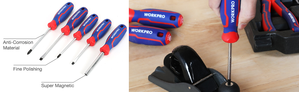 WORKPRO 87-piece Home Repair Hand Tool Set