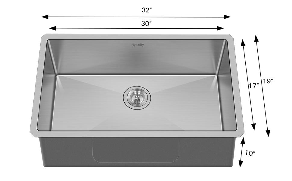 30x18 inch Kitchen Sink