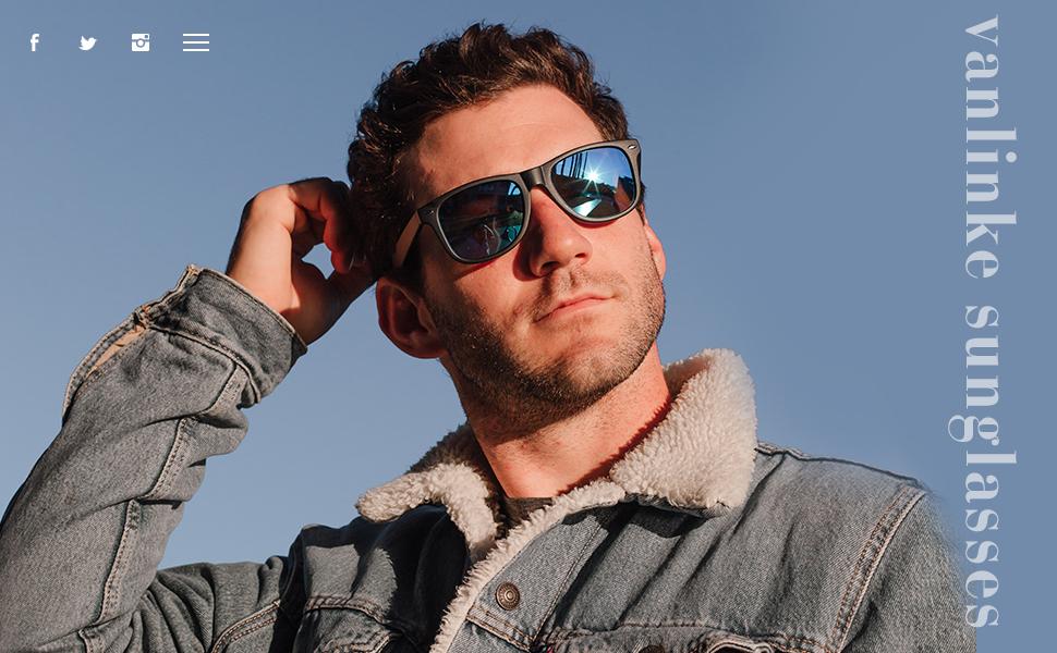 Vanlinker Polarized Square Sunglasses