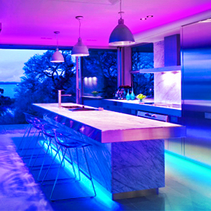 RGB strip lights suitable for home decorations,such as party, family day create a romatic experience