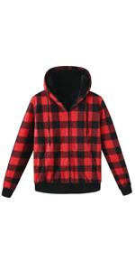 mens flannel hoodies
