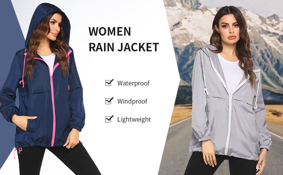 Beyove Women's Waterproof Raincoat