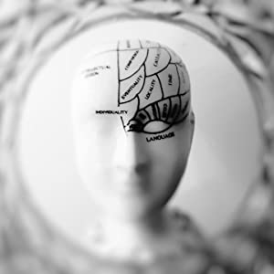 Abstract image of a head figurine