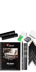 Zenacolor Kit Dibujo Completo - Principiante/Profesional - 19 accesorios