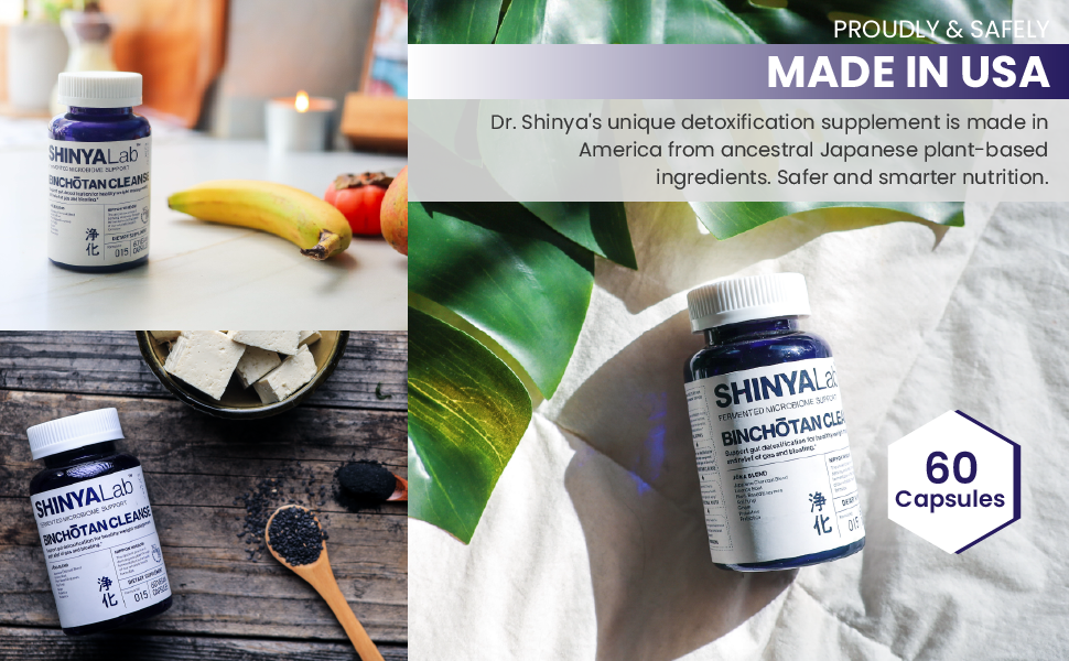 shinyalab, made, usa, cleanse, detox, capsules, supplement, detoxification, plant, ingredients, safe