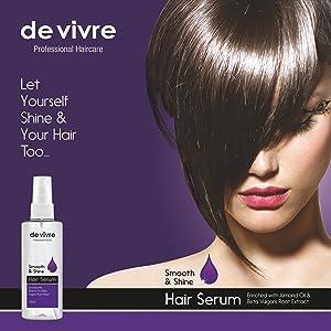 hair serum heat protection spray for straightener dryer women smooth & shine reduces frizz control