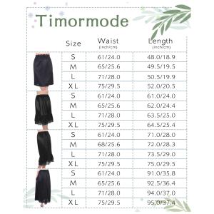 Timormode Women Half Slip Flexible Underskirt with Lace Trim Various Styles