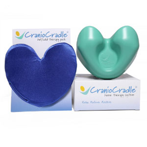 Hot and Cold Therapy Pack next to the Original CranioCradle device