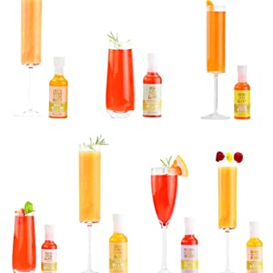 This Champagne Toppers cocktail maker kit gift set makes great party decorations or party supplies