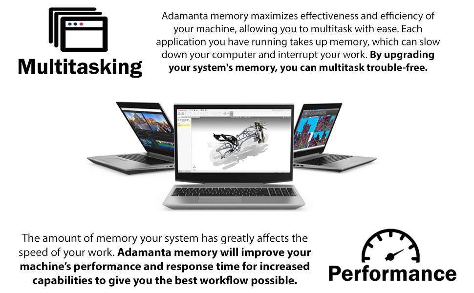 2x16GB Adamanta 32GB Laptop Memory Upgrade Compatible for Alienware 17 R4 DDR4 2400Mhz PC4-19200 SODIMM 2Rx8 CL17 1.2v Notebook RAM DRAM