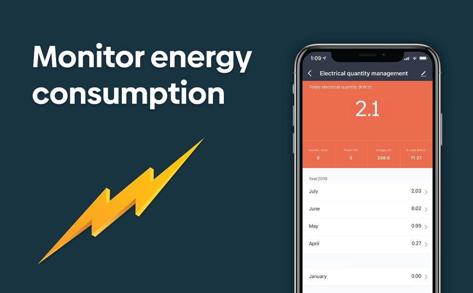monitor energy consumption helea 16a smart plug