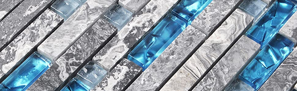 marble glass tile side view