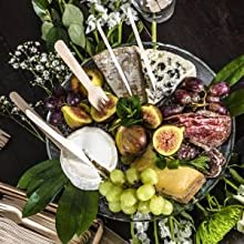 Catering, charcuterie, elegant, wooden cutlery