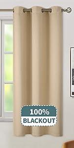 Grommets 100% Blackout Curtains