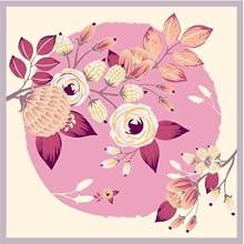 foulard petit carré cou sac cheveux enfant plissé cou pour offrir fleur soie sauvage violet beige