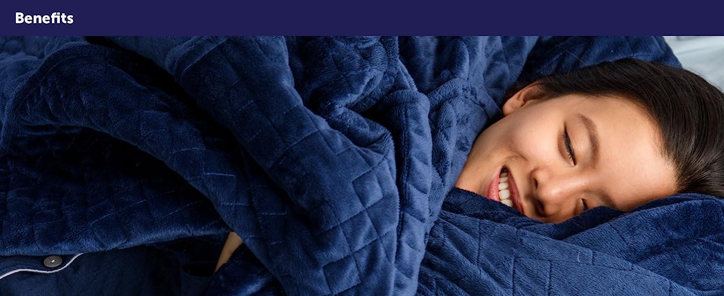 gravity, gravity blanket, sleep aid, deep sleep, relaxation, soft, microfiber, glass beads, weight