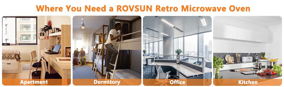 where you need a rovsun retro microwave oven