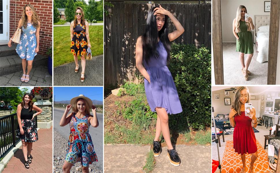 womens sundresses, short dress for women, summer dress for women, casual summer dress, tank dress