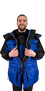 Freeze Defense Mens 3in1 Winter Coat Parka with Insulated Vest