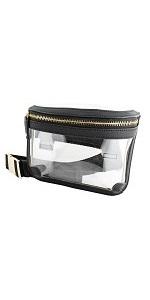 clear fanny back belt bag