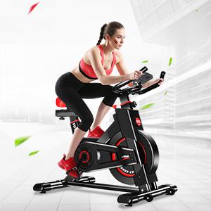 ANCHEER Heimtrainer Fahrrad Ergometer Testsieger Hometrainer Stufenlose Widerstandseinstellung mit gro/ßes Tr/ägheitsschwungrad Benutzergewicht bis 150kg Indoor Cycling Fitnessbike