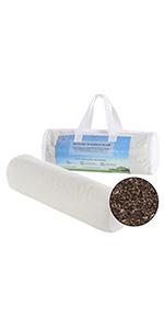 Lofe Buckwheat Bolster Pillow