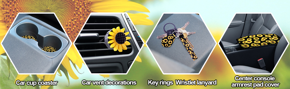 BQTQ provide car cup coaster, vent decoration, keychain and armrest pad cover to decorate your car