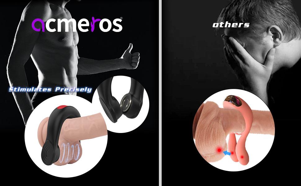 Vibrating Cock Ring Dual Motors Couple Vibrator for Testicles Clitoris Stimuelation Remote Control