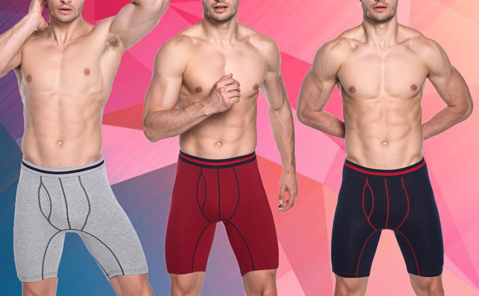 Model Shows The Mens Long Boxers