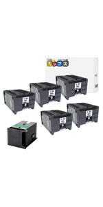 ブラック 5個+互換メンテナンスボックス