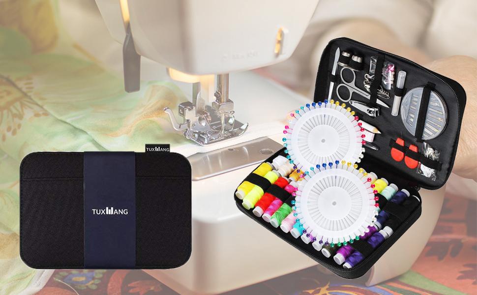 Tuxwang Kit de costura con 130 piezas Accesorios de costura ...