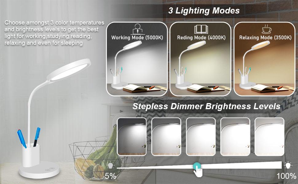 led desk lamp dimmable